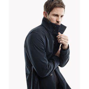 Theory Navy Starke HI Coat in Vetiver Size S